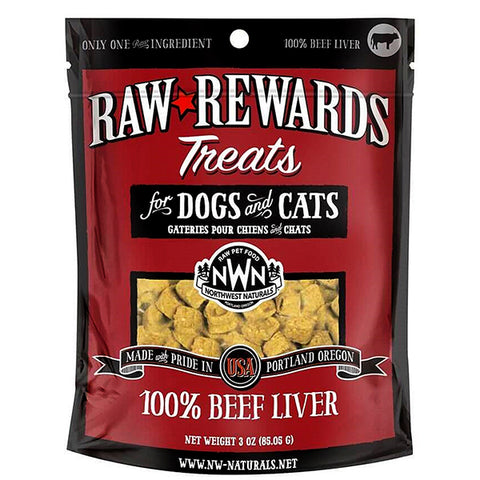 Raw Rewards 100% Beef Liver Freeze-Dried Raw Grain-Free Dog & Cat Treats
