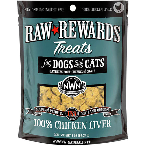 Raw Rewards 100% Chicken Liver Freeze-Dried Raw Grain-Free Dog & Cat Treats