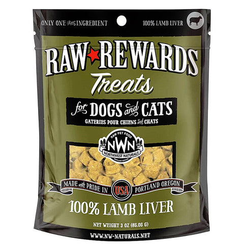 Raw Rewards 100% Lamb Liver Freeze-Dried Raw Grain-Free Dog & Cat Treats