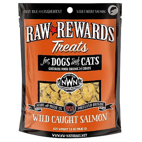 Raw Rewards 100% Wild Caught Salmon Freeze-Dried Raw Grain-Free Dog & Cat Treats