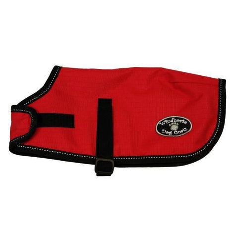 Sherpa-Lined Waterproof Dog Coat Red
