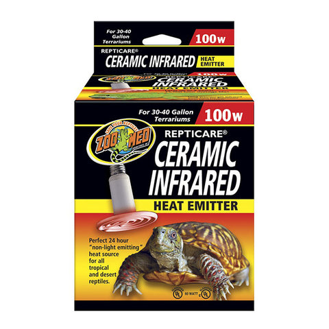 Repti Care Ceramic Infrared Reptile Heat Emitter 100 Watt