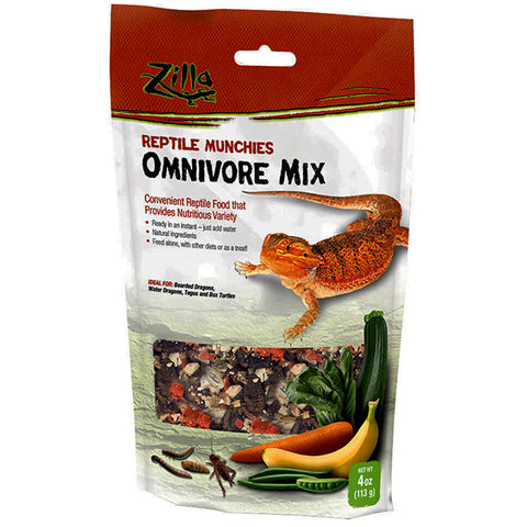 Reptile Munchies Omnivore Mix Just Add Water Dehydrated Reptile Food