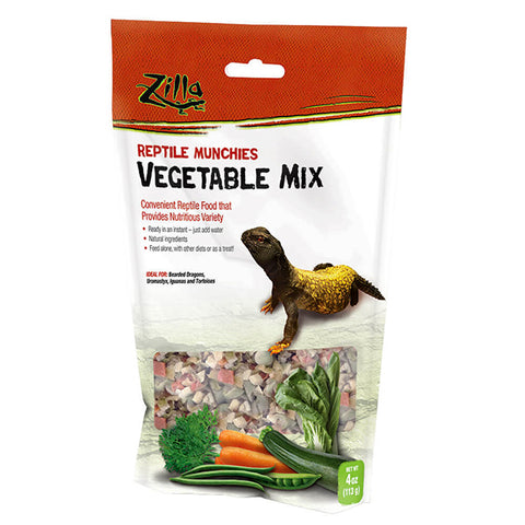 Reptile Munchies Vegetable Mix Just Add Water Dehydrated Reptile Food