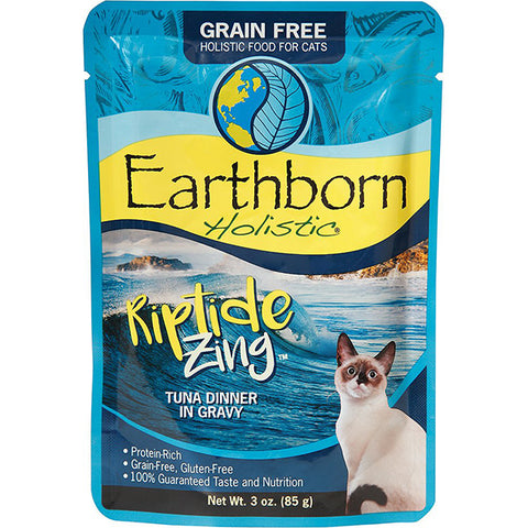 Riptide Zing Tuna Dinner in Gravy Grain-Free Wet Pouch Cat Food