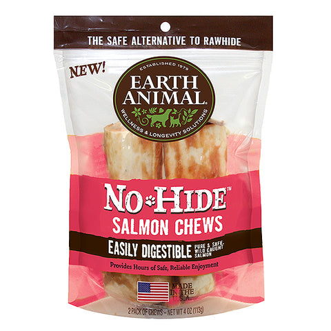 No-Hide Salmon Rawhide Alternative Dog Chew