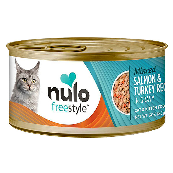 FreeStyle Minced Salmon & Turkey Recipe in Gravy Grain-Free Canned Cat Food
