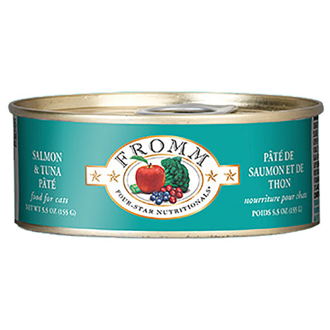 Salmon & Tuna Pate Grain-Free Wet Canned Cat Food
