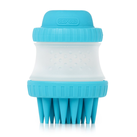ScrubBuster Silicone Massaging Dog Bath Brush Blue