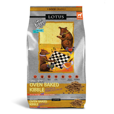 Oven Baked Chicken Recipe Small Bites Grain-Free Senior Dry Dog Food