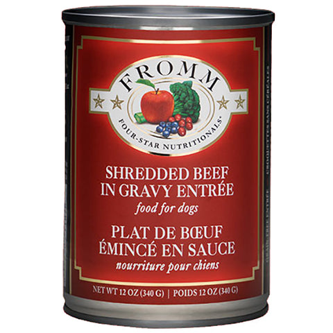 Shredded Beef in Gravy Entree Grain-Free Wet Canned Dog Food