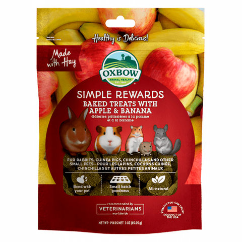 Simple Rewards All Natural Oven Baked Small Animal Treats Apple & Banana