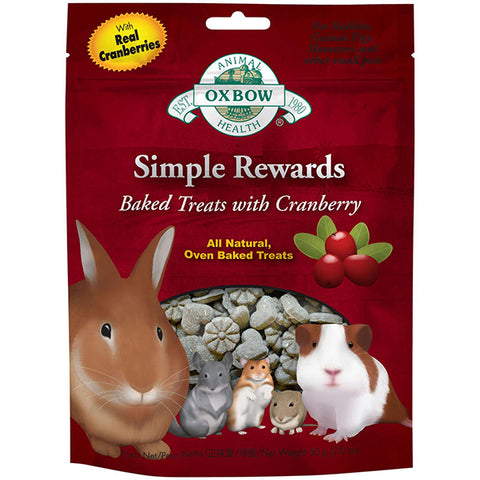 Simple Rewards All Natural Oven Baked Small Animal Treat Cranberry