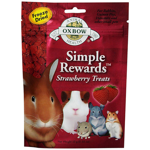 Simple Rewards Freeze Dried Strawberries Small Animal Treat