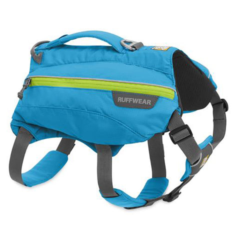 Singletrak Low Profile Hiking Dog Backpack Blue & Green