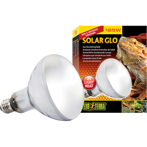 Solar Glo Mercury Vapor Bulb Reptile UV Light & Heat Emitter 125 Watt