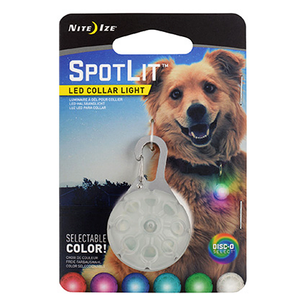 Spotlit LED Collar Attachment Disc-O Select