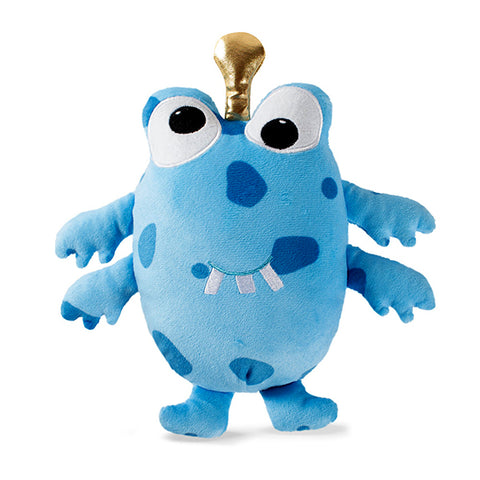PetShop Spotted Silly Monster Squeaky Plush Dog Toy Blue