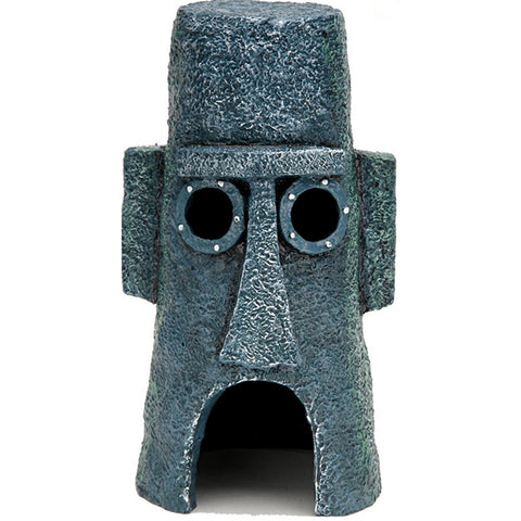 Spongebob Squarepants Squidward's Easter Island Home Resin Aquarium Decoration