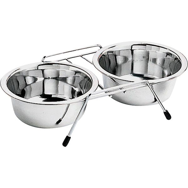 SPOT Stainless Steel Double Diner Bowl Set