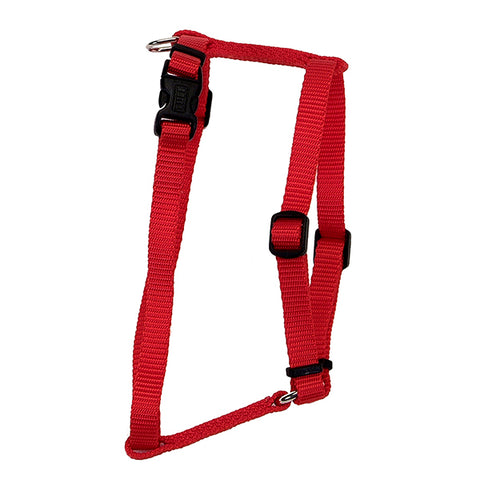 Standard Adjustable Nylon Harness Red