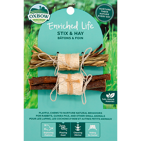 Enriched Life Stix & Hay Small Animal Chew & Toy