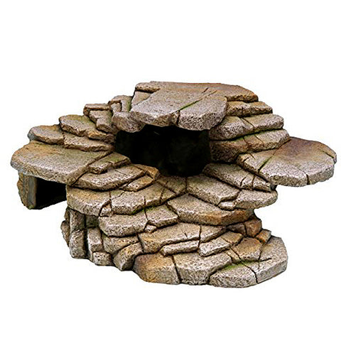 Reptology Artificial Stone Step Ledge Reptile Habitat Addition Hideout