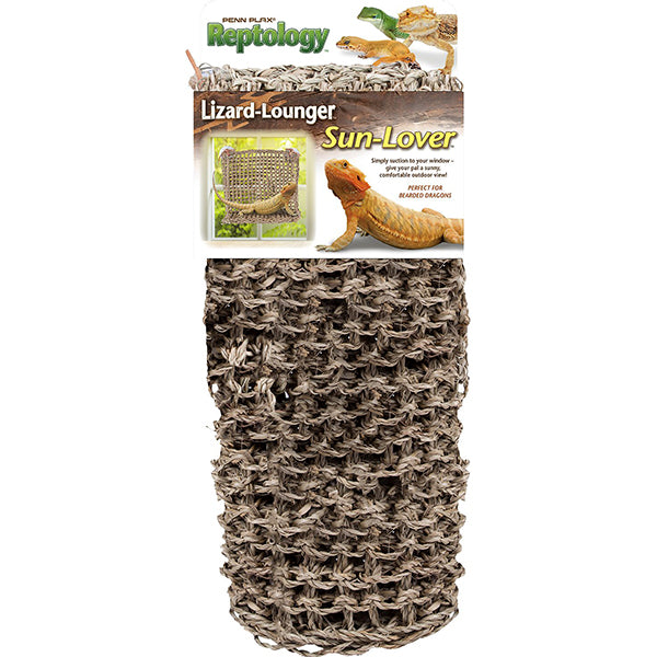 Reptology Natural Lizard Lounger Sun Lover Window Seagrass Hermit Crab & Reptile Hammock