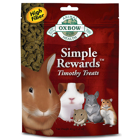 Simple Rewards High Fiber Timothy Treats Small Animal Treat