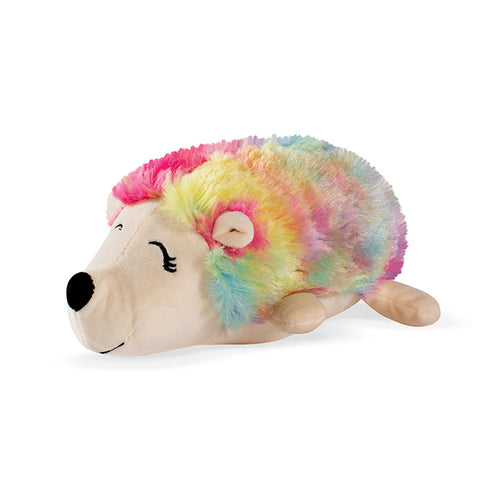 PetShop Tina the Hedgehog Squeaky & Fuzzy Plush Dog Toy Rainbow