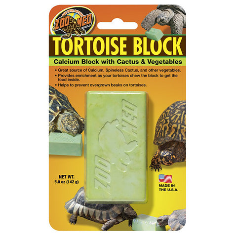 Tortoise Block Calcium Block with Cactus & Vegetables Treat Supplement