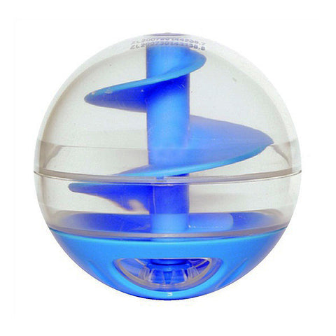 Catit Treat Ball Plastic Treat-Dispensing Toy Blue