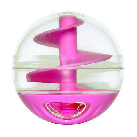 Catit Treat Ball Plastic Treat-Dispensing Toy Pink