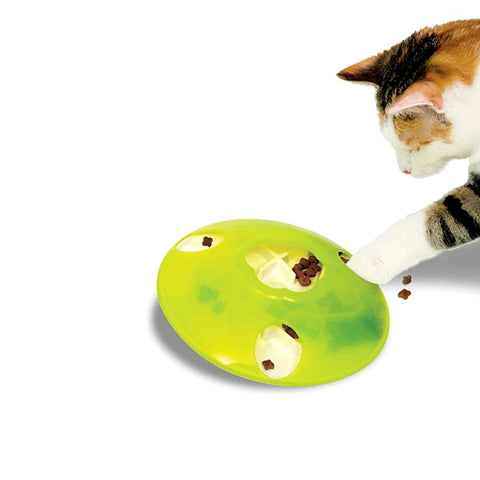 Play Treat Spinner Treat-Dispensing & Slow Feeder Cat Toy