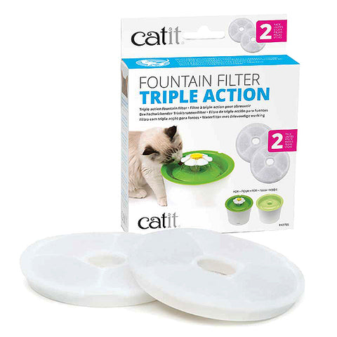 Triple Action Fountain Filter for Catit Flower Fountain