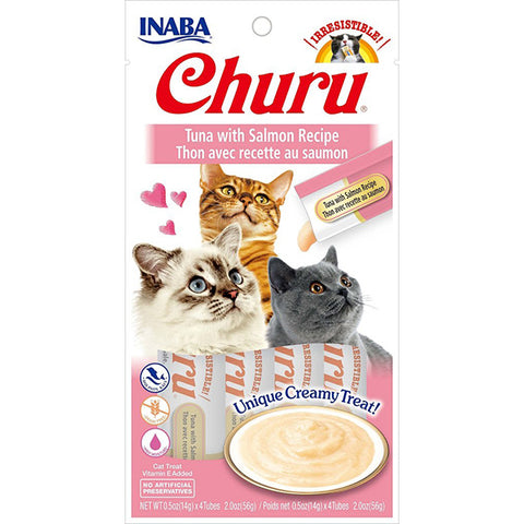 Churu Tuna with Salmon Puree Lickable Cat Treat