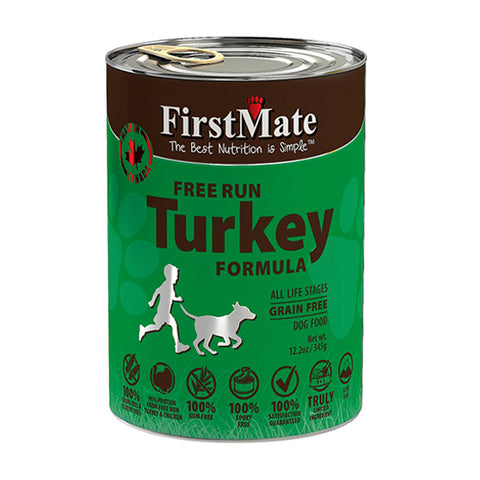Free Run Turkey Formula Limited Ingredient Diet Grain-Free Wet Canned Dog Food