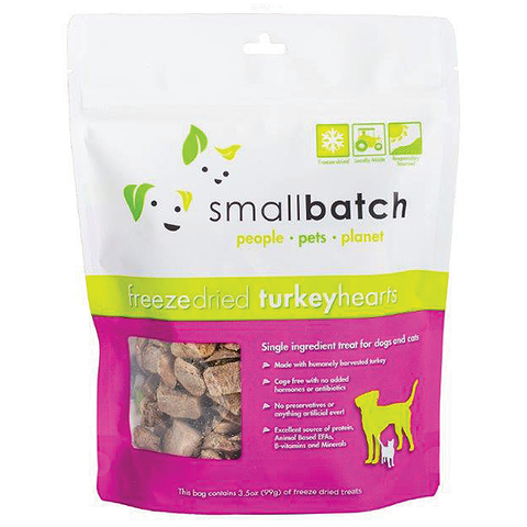 Freeze-Dried Turkey Hearts Single Ingredient Dog Treats