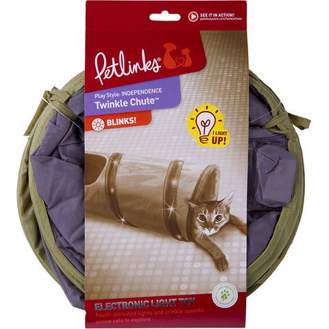 Twinkle Chute Light-Up Crinkly Tunnel Cat Toy