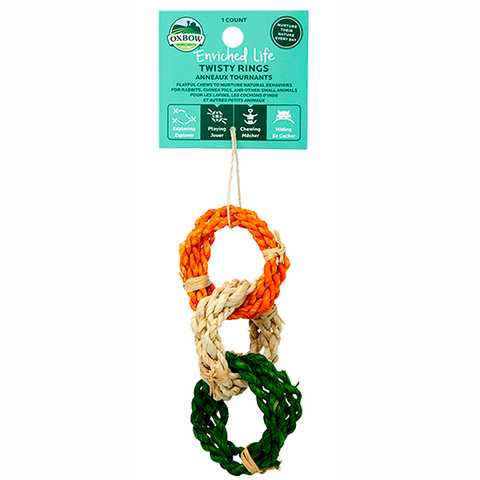 Enriched Life Twisty Rings Small Animal Hanging Chew & Toy