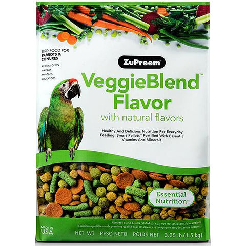 Veggie Blend Flavor Bird Food Pellets For Parrots & Conures