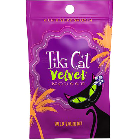 Velvet Mousse Salmon in Broth Grain-Free Wet Pouch Cat Food