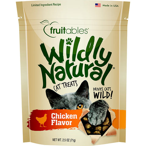 Wildly Natural Chicken Flavor Crunchy Cat Treats