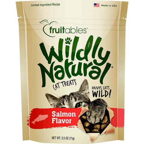 Wildly Natural Salmon Flavor Crunchy Cat Treats
