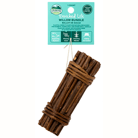 Enriched Life Willow Bundle Small Animal Wood Chew & Toy
