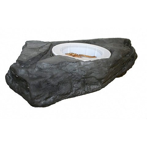 MagNaturals Worm Feeder Ledge Magnetic Realistic Artificial Stone Reptile Dish Granite