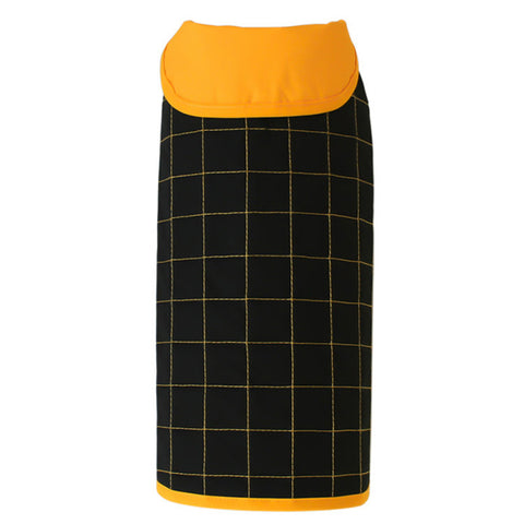 Maras Collection Yaku Reversible Waterproof Dog Raincoat Black & Yellow