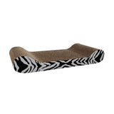Catit Lounge Corrugated Cardboard Scratcher with Catnip Zebra Stripes