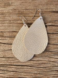 Champagne Sparkle Teardrop Earrings