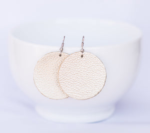 Champagne Sparkle Circle Earrings